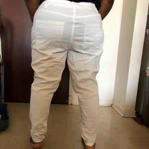 Lane Bryant mid rise skinny jeans white size 22